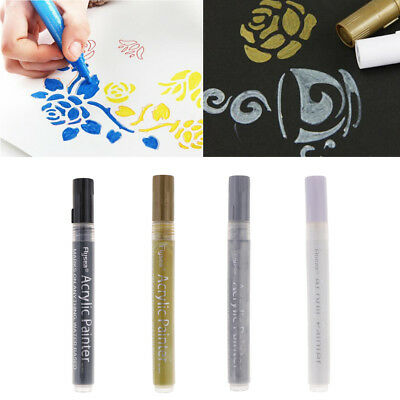 4 Acrylic Paint Pen Marker Pens Water Based Marker Pen for Wood Canvas Glass