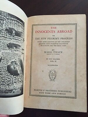 The Innocents Abroad Or The New Pilgrims Progress 1897 Mark Twain
