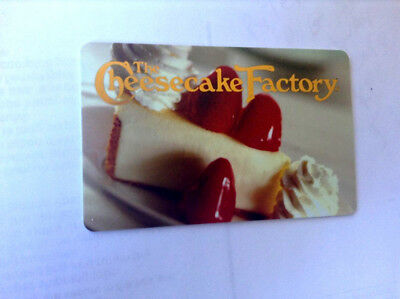 The Cheesecake Factory Gift Card ---0---BALANCE---ZERO RECHARGEABLE