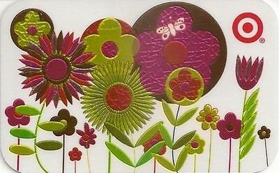 TARGET COLLECTIBLE Gift Card  Foil Flowers Bouquet New No Value BILINGUAL