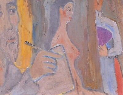 Bui Xuan Phai (1920-1988): Self portrait with a female nude,