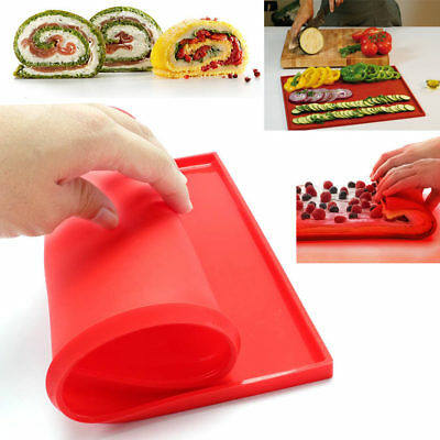 New Non Stick Silicone Pastry Baking Mat Bakeware Tray Oven Rolling Sheet Tool