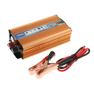 Car 1000W Converter Power Inverter DC24V to AC 220V Transformer USB Golden