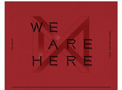 MONSTA X WE ARE HERE 2nd Album TAKE.2 4 Ver SET+4POSTER+4Book+8Card+4Pre-Order