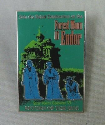 Disney Pin - Star Wars Poster Forest Moon of Endor Return of the Jedi Episode VI