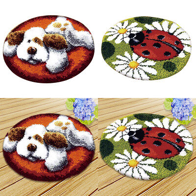 2 Sets Ladybug Dog Latch Hook Kit for Adults Embroidery Animal Needlecrafts