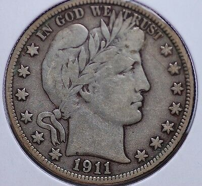 1911 P Barber Half Dollar Very Fine Nice And Natural Light In Color