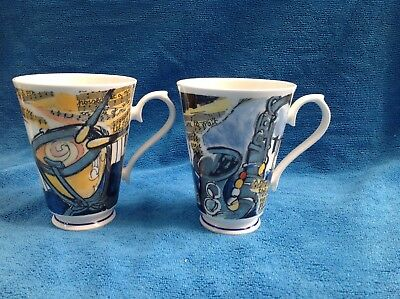 Roy Kirkham Melody Colourful Gilt Mug - Musical Theme Bone China