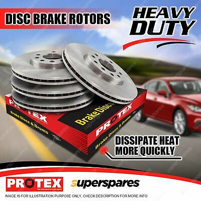 Protex Front + Rear Disc Brake Rotors For BMW 320Ci 325 328 330 E46 12/97 - 7/06