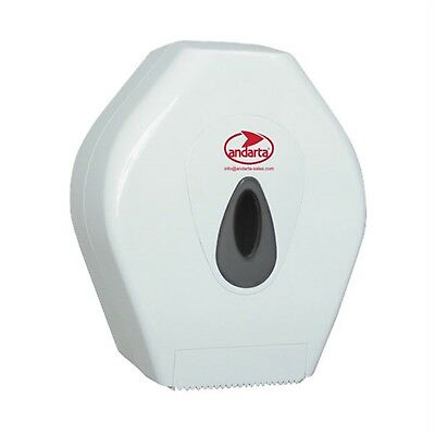 Andarta 06-028 Plastic Lockable Mini Jumbo Toilet Roll Dispenser