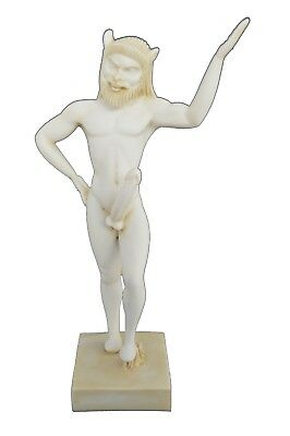 Satyr sculpture ancient Greek mythic creature Great aged statue