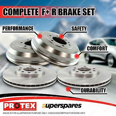 Protex Front+Rear Brake Rotors Drums For Toyota Hilux LN 147 152 RZN 149 154 2WD