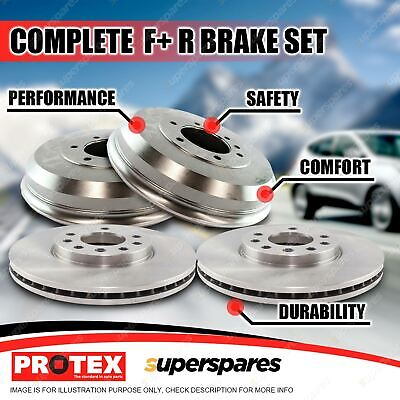 Protex Front + Rear Brake Rotors Drums For Toyota Hilux LN RN VZN KZN130 4WD