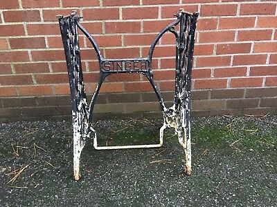 Vintage Small Singer Sewing Machine Cast Iron Table Base Legs * Delivery Arrange