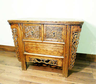 "Antique Chinese ""Butterfly"" Coffer (5656), Circa 1800-1849"