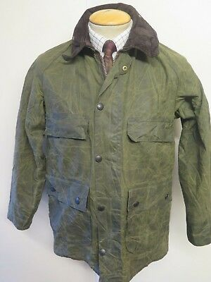 """Vintage Barbour Bedale Waxed jacket - S 36"""" Euro 46 in Green"""