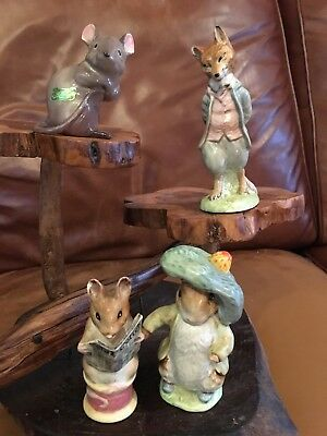 Vintage Chipped Beswick Beatrix Potter Figures