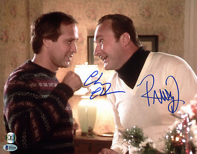 Chevy Chase & Randy Quaid Christmas Vacation Signed 11x14 Photo BAS Witnessed