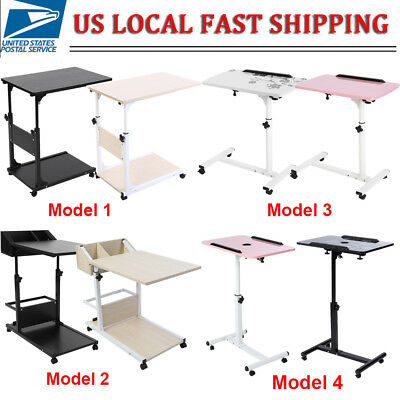 Multifunctional Adjustable Computer Desk Table Sofa Bed Stand Removable W/Wheels
