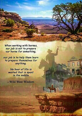 Native American Western Cowboy Horse Quote Photo Poster Print ONLY Wall Art A4