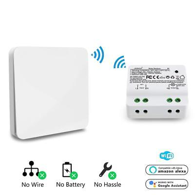 Wireless WIFI Wall Light Switch Kit Self-Powered Remote Control ON/OFF +Receiver