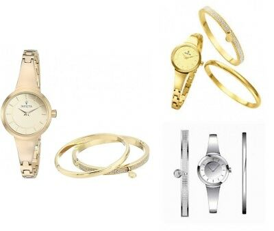 Invicta Gabrielle Union Stainless Steel Watch and Bracelet Gift Set