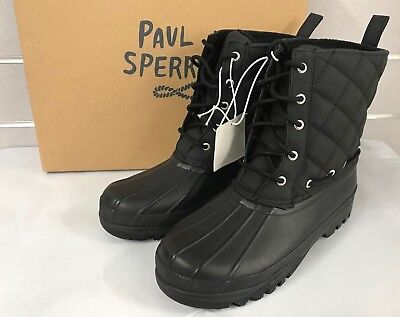 Sperry Women's Gosling Quilted Duck Boot Black/Black NEW Sz 6, 7, 8, 9, 10, 11