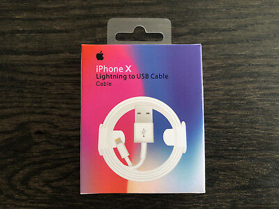 Genuine OEM Apple iPhone X XS MAX Lightning USB Cable Charger 3FT + Wall Charger