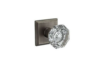 Baldwin Reserve PV.CRY.TSR Crystal Privacy Knob Set w/Traditional Square Rosette
