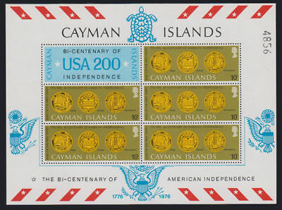 Cayman Is. - 1976 USA Special Sheets. Sc. #372-6, SG #404-8. Mint