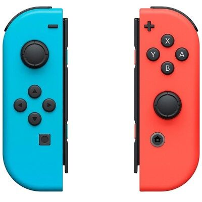 Genuine Nintendo Switch Joy-Con (L/R) Wireless Controllers Set - Neon Red / Blue