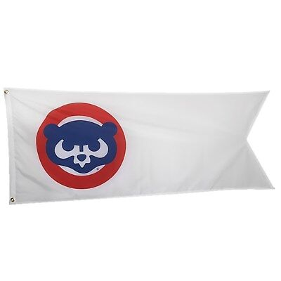 Chicago Cubs 1980s Retro Logo Flag 3x5 ft White Indoor Outdoor Deluxe Banner