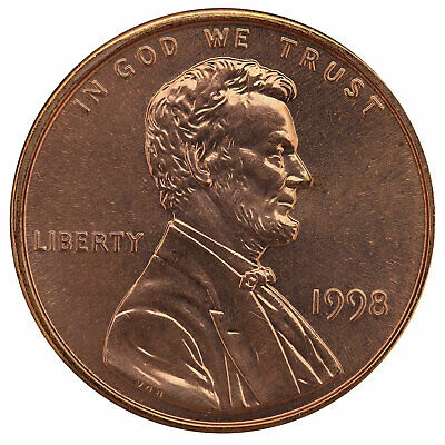 1998 Lincoln Memorial Cent BU Penny US Coin