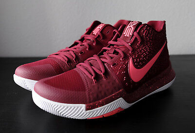 c37ca67a7 Nike Kyrie 3 Hot Punch Sz 11 Team Red White Irving Basketball Shoes  852395-681