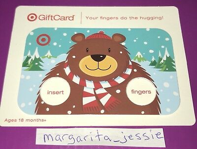 Target Gift Card Holiday 2010 Finger Hugging Bear Collectible No Value New