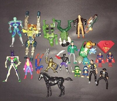 "lot of 23 early 90""s action figures from movies & DC & marvel BK and McDonald"