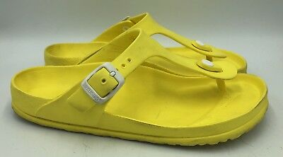 b1fc09202f3 BIRKENSTOCK GIZEH EVA Rubber Yellow Womens Sandals Size 38 -  17.99 ...
