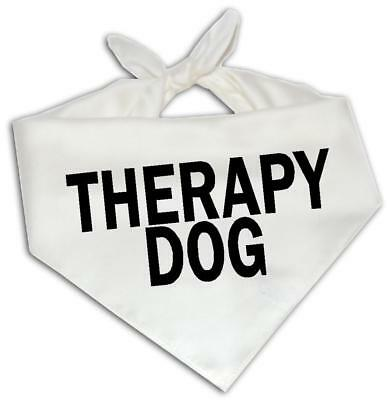 Therapy Dog - Dog Bandana One Size Fits Most - Emotional Service Animal Puppy