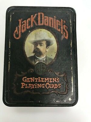 1970's Jack Daniels Playing Cards Tin Made by Hudson-Scott & Sons (no cards)