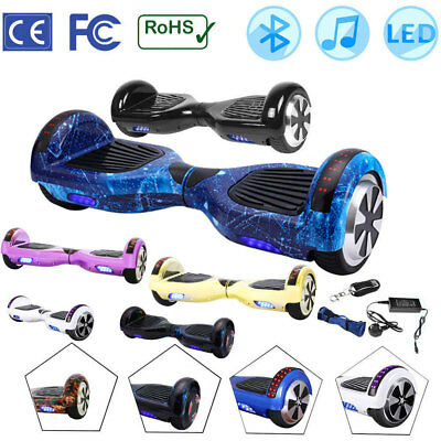 """Hoverboard 6.5"""" LED Bluetooth Bag Self Balance Electric Scooter Two Wheels Board"""