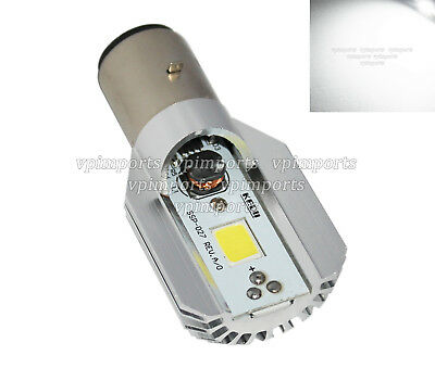Cree LED Ba20D 49531 Xenon White Headlight Bulb Moped Bike Scooter Lamp 9- 85VDC