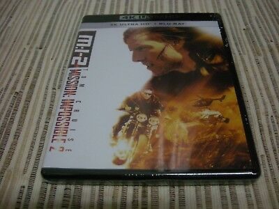 4K Ultra Hd + Bluray Mision Imposible 2 Mission Impossible 2 Nuevo