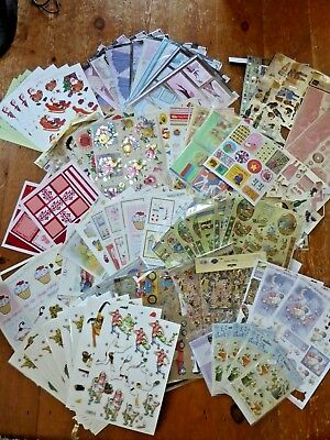 Job Lot of Card Making Accessories Card Decoupage Sheets Toppers Papers
