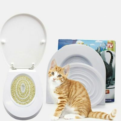 Training Kit Seat Kitty Potty Toilet Tray For Cats Cleaning Seat Pet Supplies