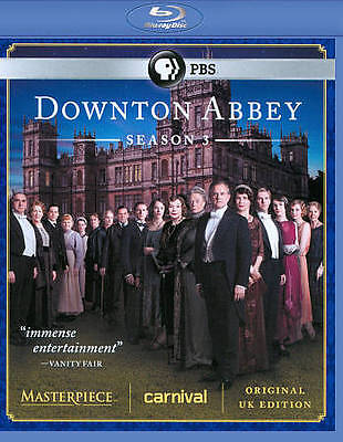 Downton Abbey: Season 3 (Blu-ray Disc, 2013, 3-Disc Set)