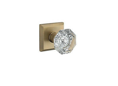 Baldwin Reserve PS.CRY.TSR Crystal Passage Knob Set w/Traditional Square Rosette