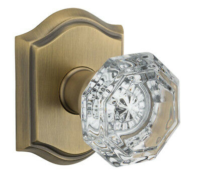 Baldwin Reserve PS.CRY.TAR Crystal Passage Knob Set w/Traditional Arched Rosette
