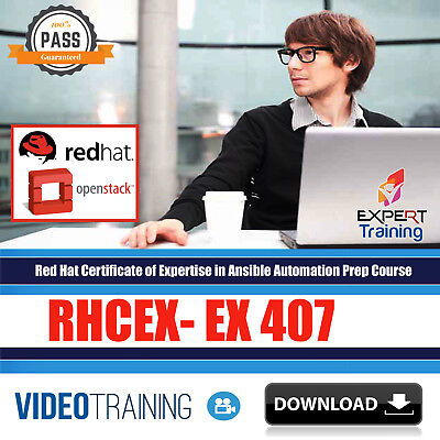 Red Hat  RHC EX 407 Ansible Automation Video Training 17 hours Course DOWNLOAD