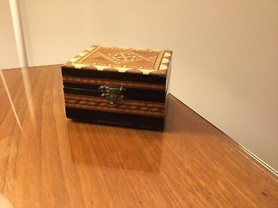 Tunbridge Wear  Style Trinket Box.