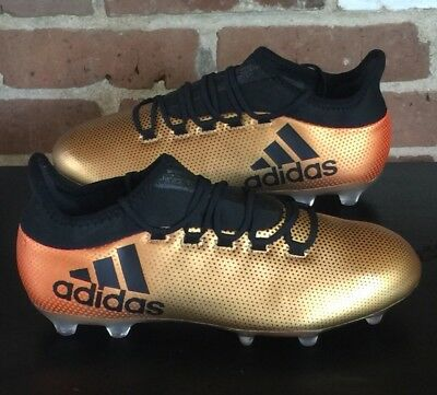 outlet store a82e9 b4c70 Adidas X 17.2 FG Men s Soccer Cleats Boots Football CP9186 Gold Black Sz 8.5